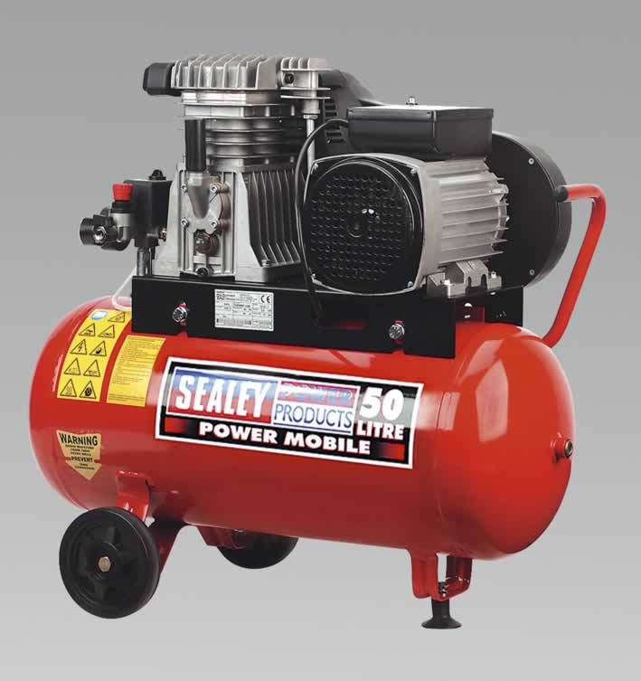 Compressor 50ltr Belt Drive with Alloy Cylinders 3.0hp