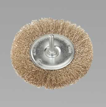 Flat Wire Brush 100mm with 6mm Shaft