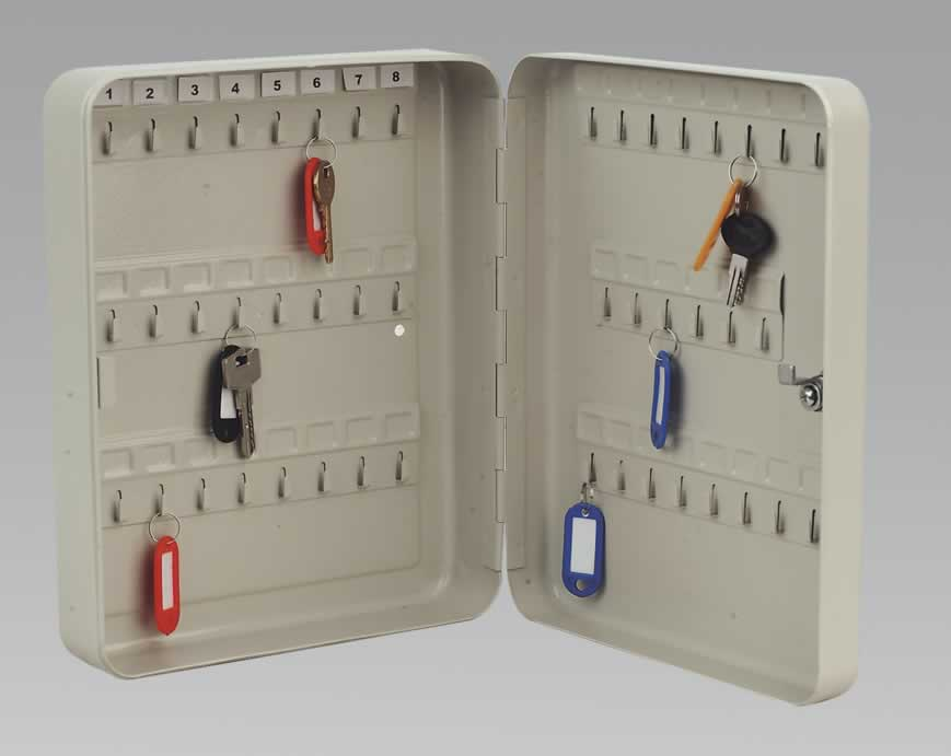Key Cabinet with 45 Key Tags