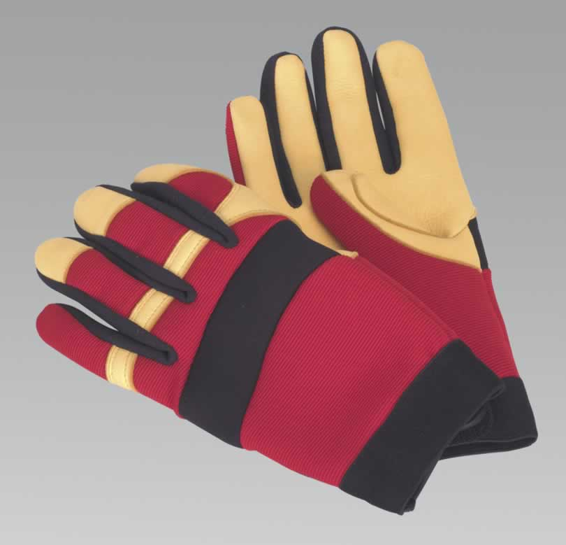 Mechanic's Gloves - Super-Soft Leather - Large