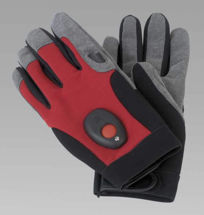 PowerGlove Mechanic's Gloves with Integral LED - Large