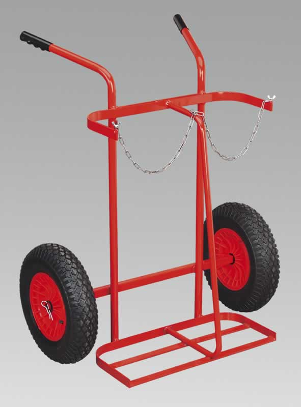 Welding Bottle Trolley with Pneumatic Tyres