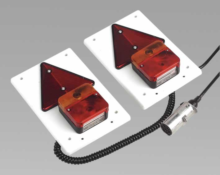 Lighting Board Set 2pc with 8mtr Cable DIN 24V Plug