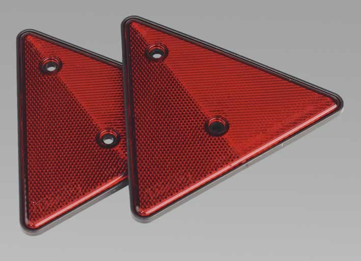 Rear Reflective Red Triangle Pack of 2