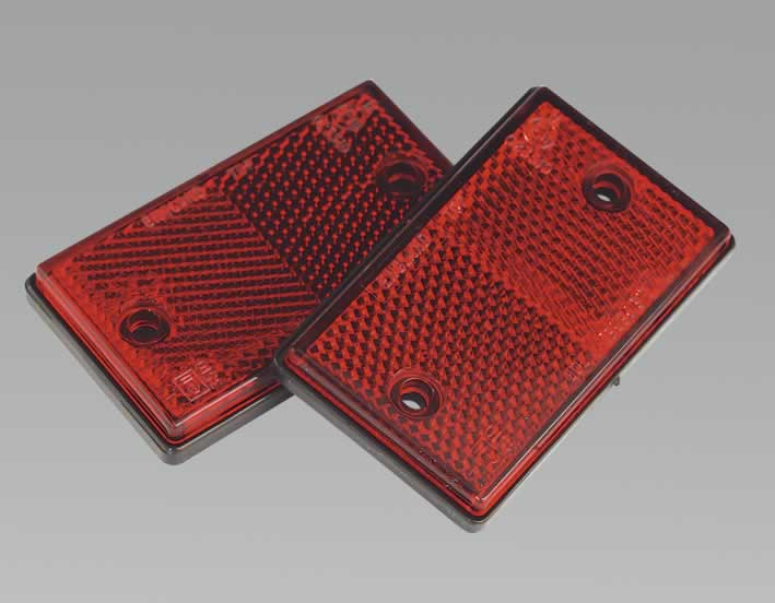 Reflex Reflector Red Oblong Pack of 2