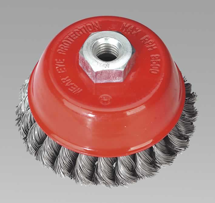 Twist Knot Cup Brush 100mm M14