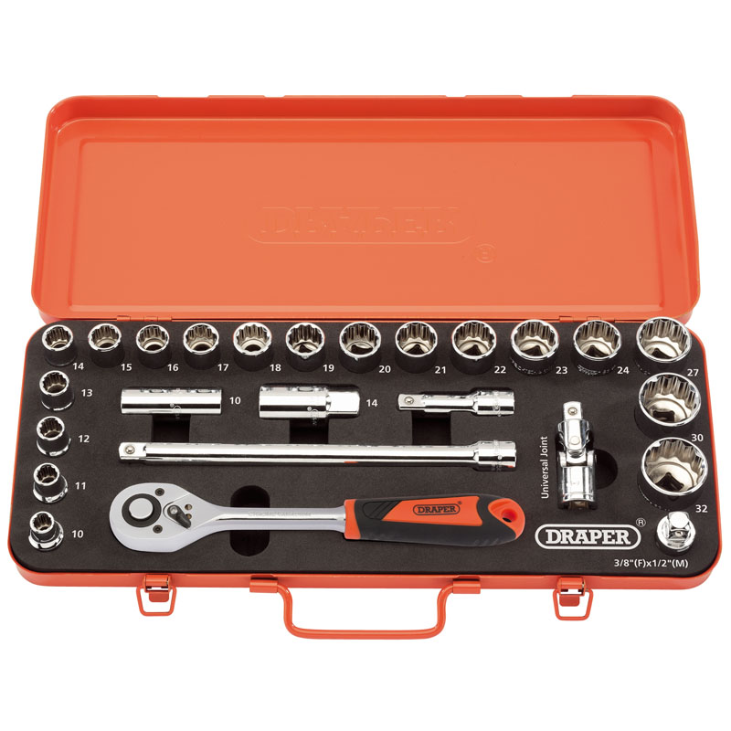 "Retro Edition 1/2"" Sq. Dr. Metric Socket Set (25 piece)   (AHA)"